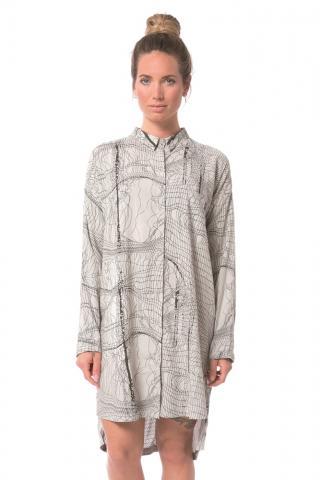Nikita Harbor Dress - string print silver birch Größe: S Farbe: SlvrBrch S | SlvrBrch