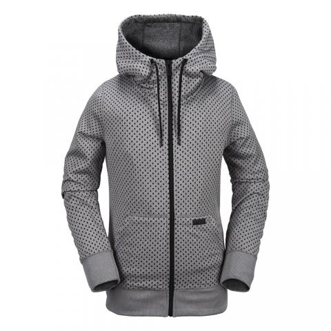 Volcom Stone Dot Fleece - heather grey Größe: L Farbe: HEATHER_GR L | HEATHER_GR
