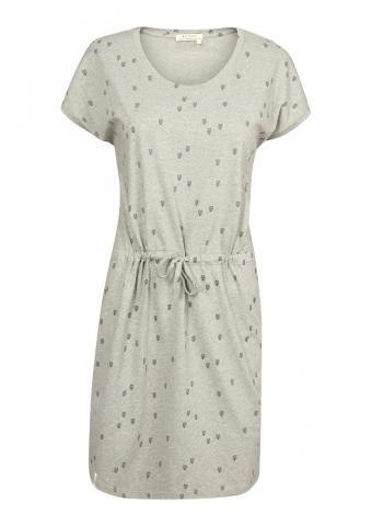 Recolution Shirtdress V-Neck #HEARTARROW - grey melange Größe: S Farbe: greymelang S | greymelang