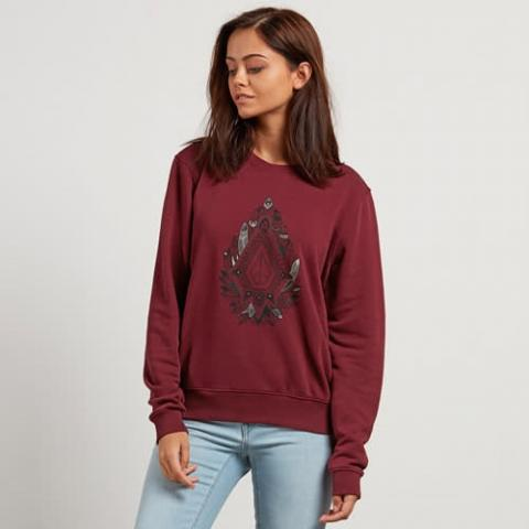 Volcom Sound Check Fleece - burgundy Größe: L Farbe: burgundy L | burgundy