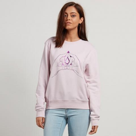 Volcom Sound Check Fleece - light purple Größe: L Farbe: lightpurpl L | lightpurpl