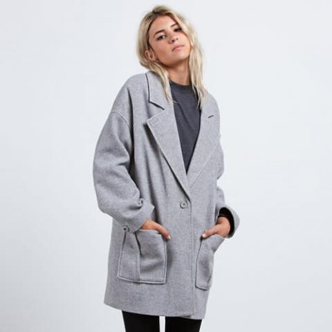 Volcom Volcoon Coat - heather grey Größe: L Farbe: heathergre L | heathergre