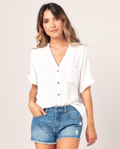 Rip Curl North Shore Shirt - white Größe: S Farbe: white S | white