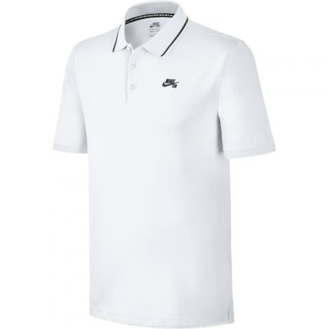 Nike SB Dri-Fit Piqué Tipped Polo - white Größe: XS Farbe: WhtBlack XS | WhtBlack