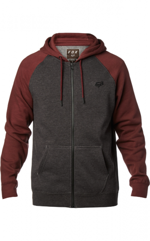 Fox Legacy Zip Fleece - charcoal Größe: XL Farbe: CharcoalHt XL | CharcoalHt