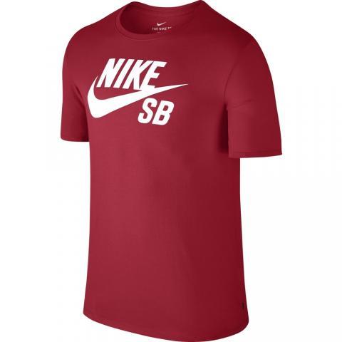 Nike SB Logo Tee - university red Größe: S Farbe: UnvstRed S | UnvstRed