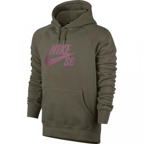 Nike SB Icon Pullover - medium olive Größe: S Farbe: mediumoliv S | mediumoliv