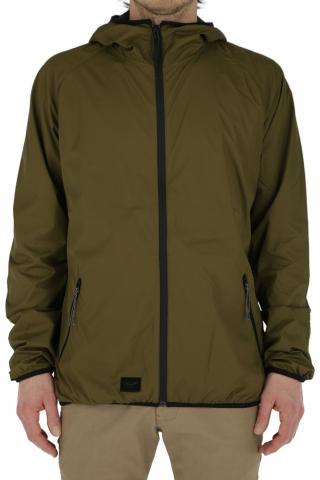 Reell Pack Logo Jacket - olive Größe: M Farbe: olive M | olive
