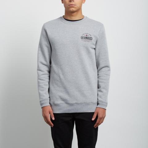Volcom Supply Stone Crew - grey Größe: XS Farbe: grey XS | grey