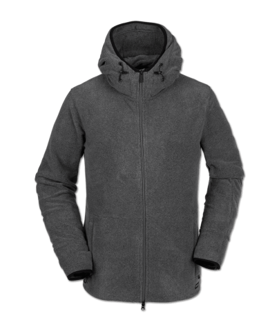 Volcom Polartec Fleece - heather grey Größe: M Farbe: heathergre M | heathergre