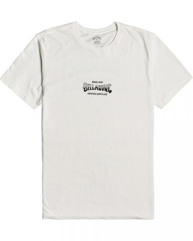 Billabong mns T-Shirt Supply Wave off white Größe: S Weiss: offwhite S | offwhite