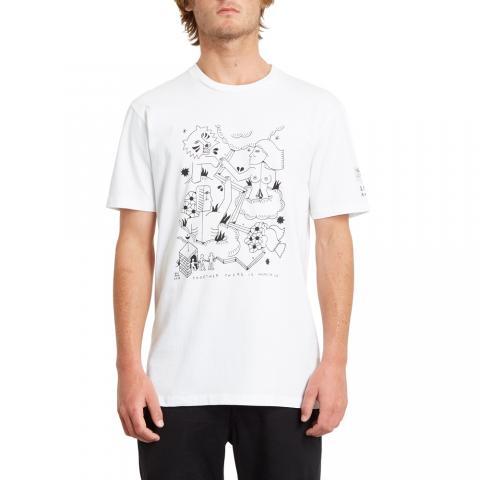 Volcom mns T-Shirt Briand FA WHT Größe: S Weiss: white S | white