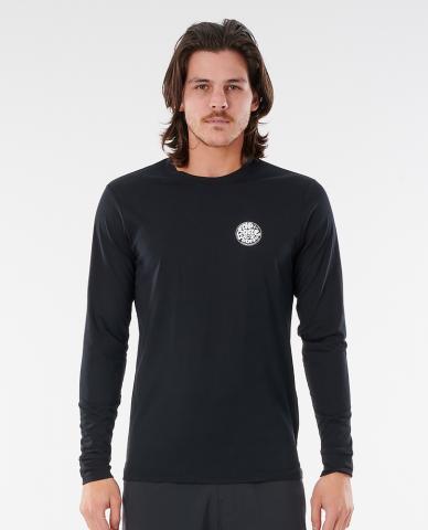 Rip Curl mns Rashguard Wettie Logo black Größe: S Schwarz: black S | black
