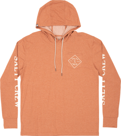 Salty Crew Tippet Pocket Hood - clay Größe: S Orange: clay S | clay
