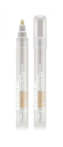 Montana ACRYLIC Marker 2mm Fine SH 9120 White Pure