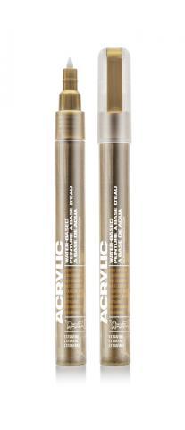 Montana ACRYLIC  Marker 0,7mm Extra Fine - M3010 Goldchrome Gold: Goldchrome Breite: 0.7mm Goldchrome   0.7mm