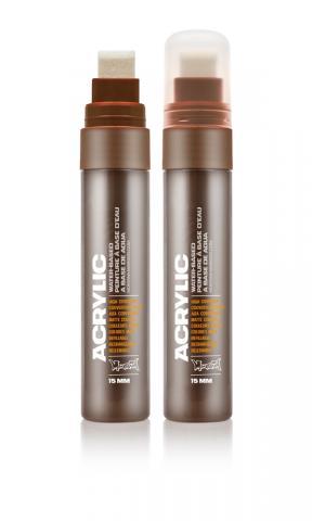 Montana ACRYLIC  Marker 15mm Standard – S8020 Shock Brown Dark Braun: Shock Brow Breite: 15mm Shock Brow | 15mm
