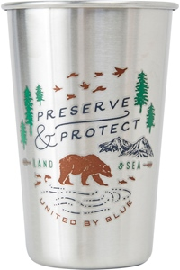United By Blue Preserve & Protect 16OZ / 473ml - stanless steel Menge: 16OZ 473ml Farbe: stainlesss 16OZ 473ml | stainlesss