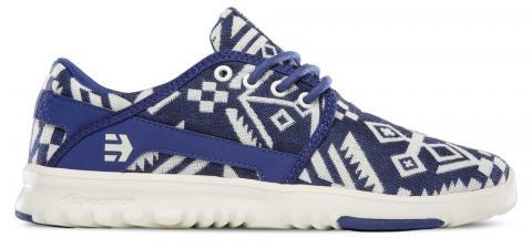 ETNIES Scout W'S - white blue Größe: 10 Farbe: WHITEBLUE 10 | WHITEBLUE