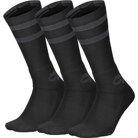 Nike SB Crew Socks (3 Pair) - black Größe: M Farbe: BlkAntrac M | BlkAntrac