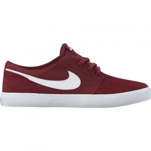 Nike SB Portmore II - dark red Größe: 9 Farbe: DkTeamRed 9 | DkTeamRed