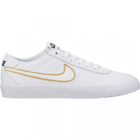 Nike SB Bruin Premium - white/gold Größe: 8½ Farbe: WhtMetal 8½ | WhtMetal