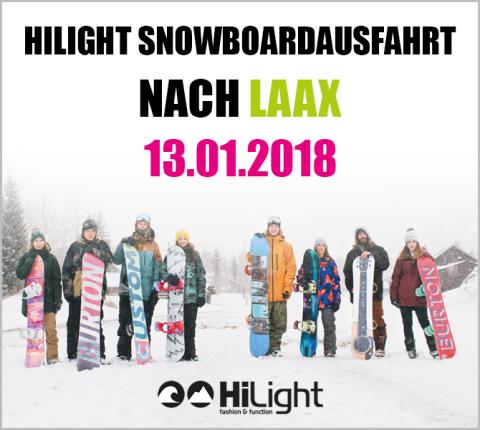 Snowboardausfahrt Laax - 13.01.2018 JGDL (bis 17 Jahre)