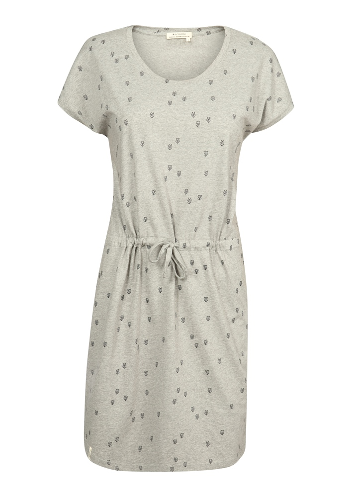 Recolution Shirtdress V-Neck #HEARTARROW - grey melange Größe: S Farbe: greymelang