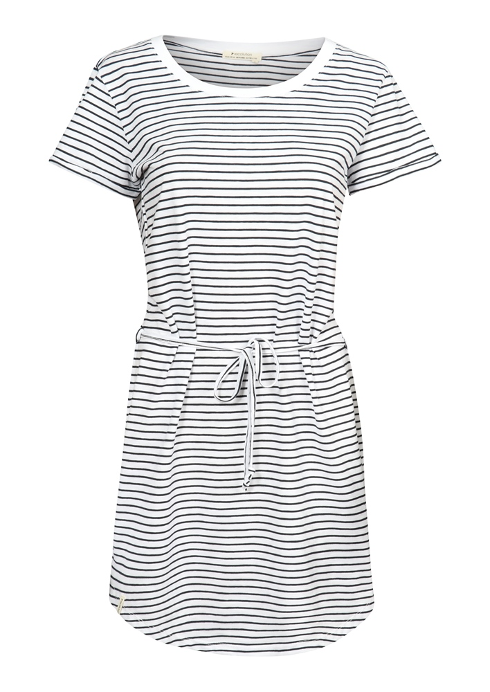 Recolution Shirtdress Basic - white navy striped Größe: S Farbe: whitenavys