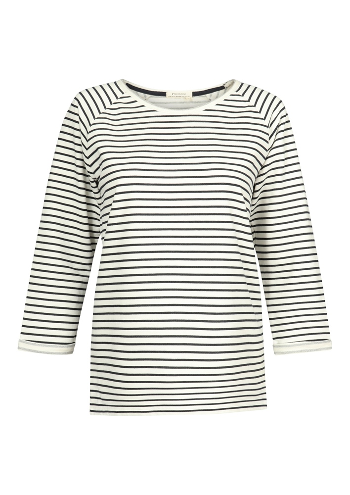Recolution 3/4 Sleeve - white navy striped Größe: M Farbe: whitenavys