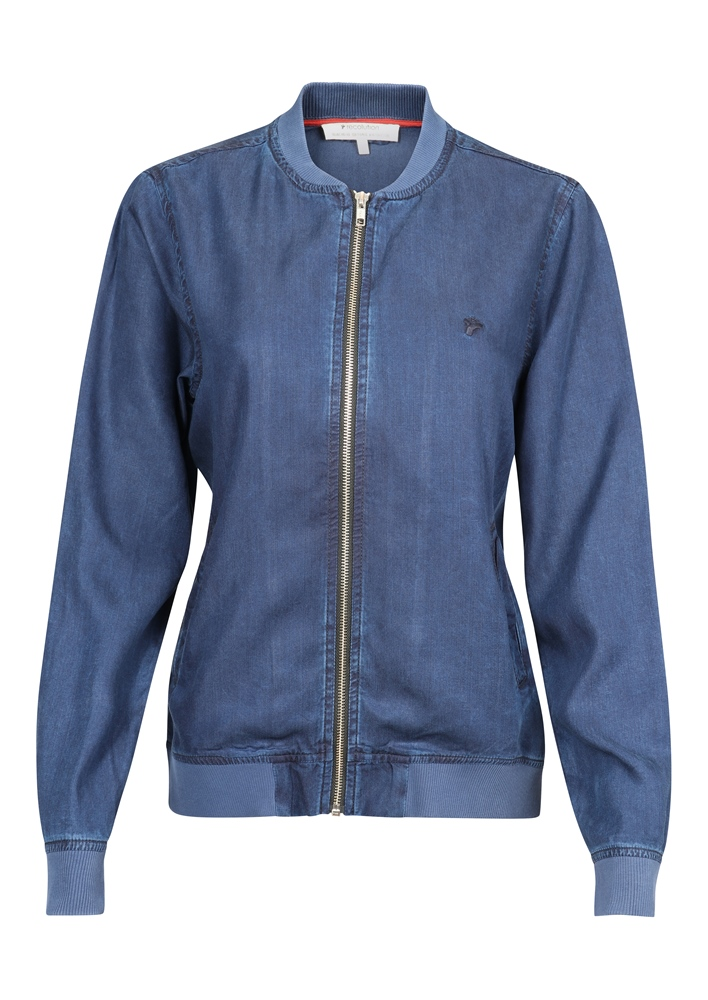 Recolution Tencel #COLLEGEJACKET - denim blue Größe: S Farbe: denimblue