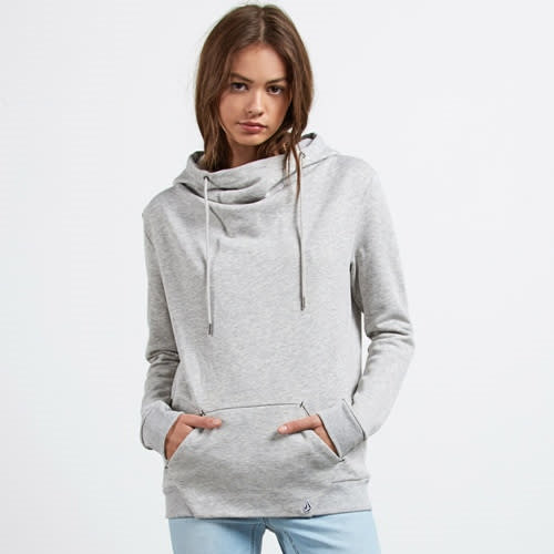 Volcom Walk On By High Neck - heather grey Größe: L Farbe: heathergre