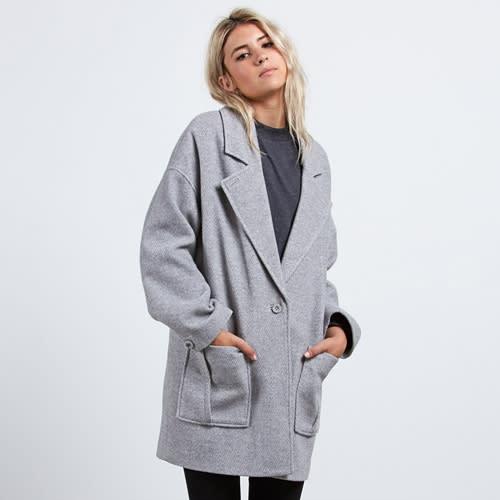 Volcom Volcoon Coat - heather grey Größe: L Farbe: heathergre