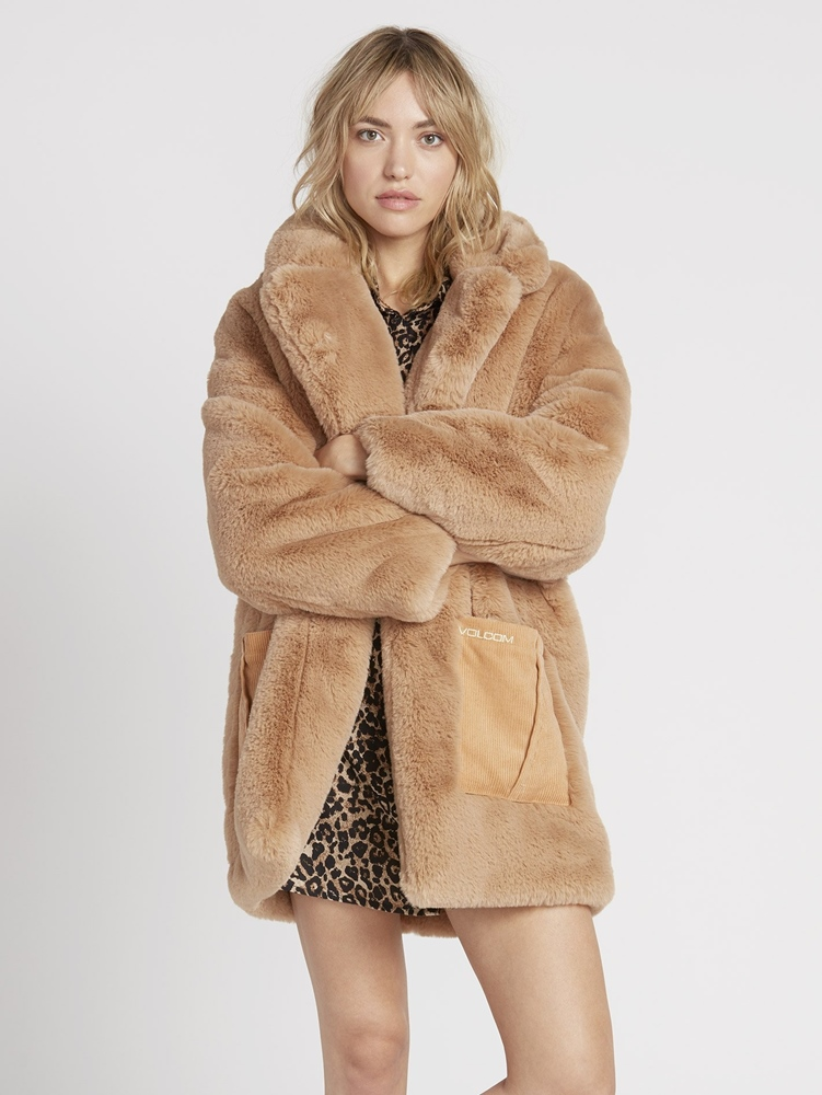 Volcom Phewfur Coat camel