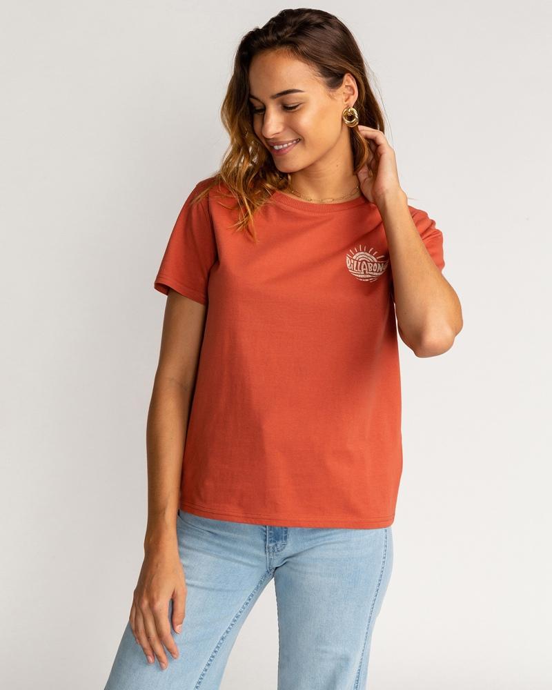 Billabong wms T-Shirt Vera Cruise brick Größe: S Rot: brick