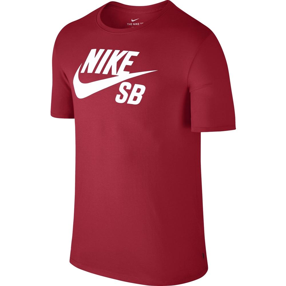 Nike SB Logo Tee - university red Größe: S Farbe: UnvstRed