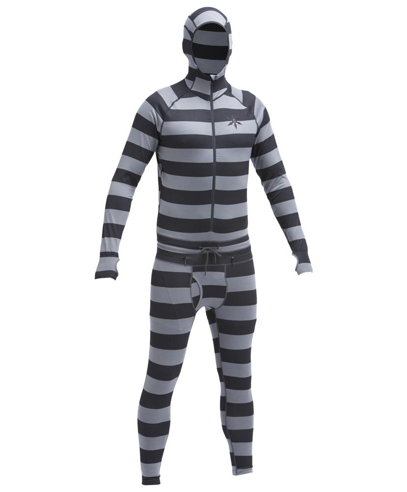 Airblaster Classic Ninja Suit - grey stripe Größe: M Farbe: GreyStrp