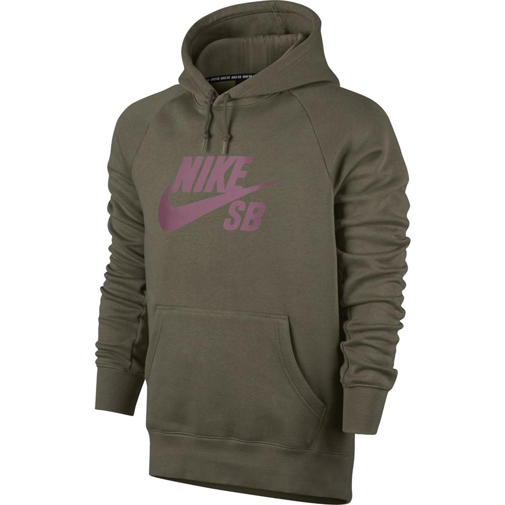 Nike SB Icon Pullover - medium olive Größe: S Farbe: mediumoliv