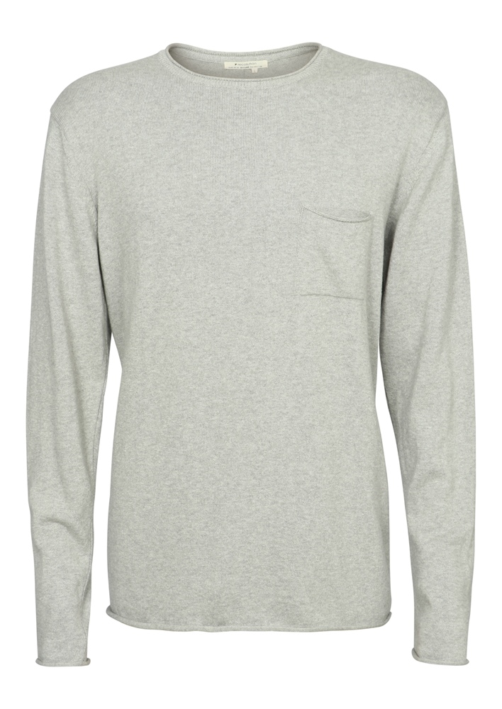 Recolution Light Knit #POCKET - grey melange Größe: M Farbe: greymelang