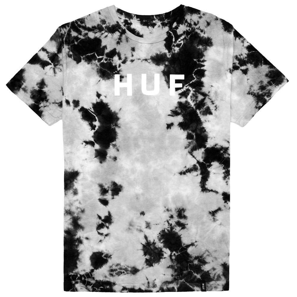 Huf OG Logo Tie Dye - black Größe: S Farbe: black