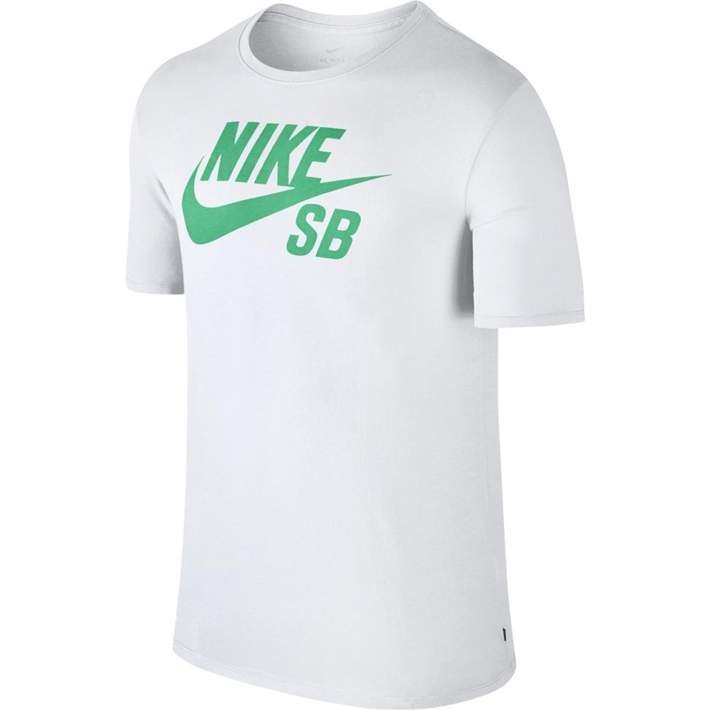 Nike SB Icon Logo Tee - white menta Größe: S Farbe: whitementa