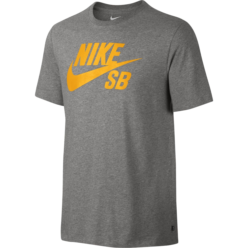 Nike SB Logo Tee - dark grey heather Größe: S Farbe: darkgreyhe