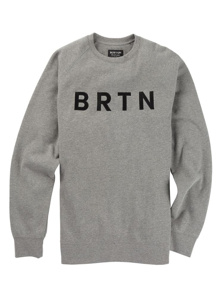 Burton BRTN Crew - gray heather Größe: S Farbe: grayheathe