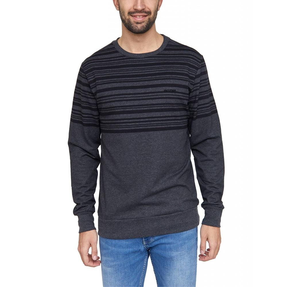 Mazine Mitcham Striped - black melange Größe: L Farbe: blackmelan