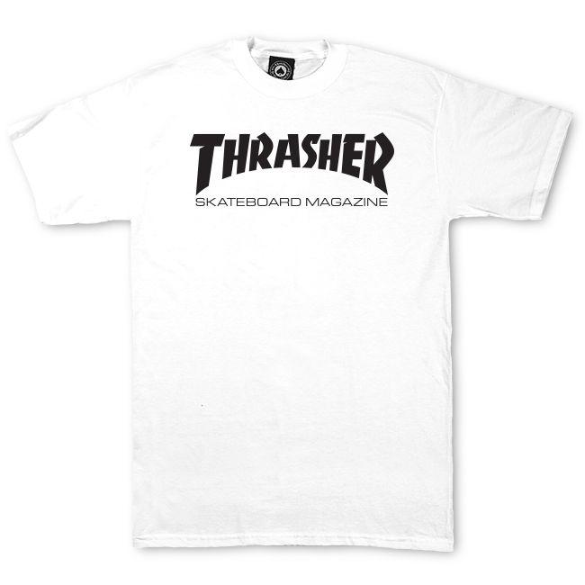 Thrasher Skate Mag - white Größe: M Farbe: white