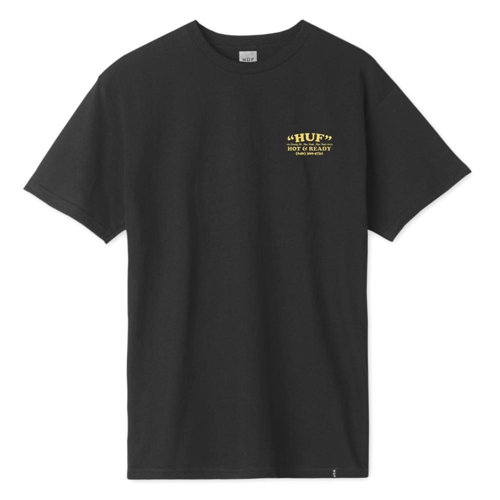 Huf mns T-Shirt Hot & Ready black Größe: L Farbe: black