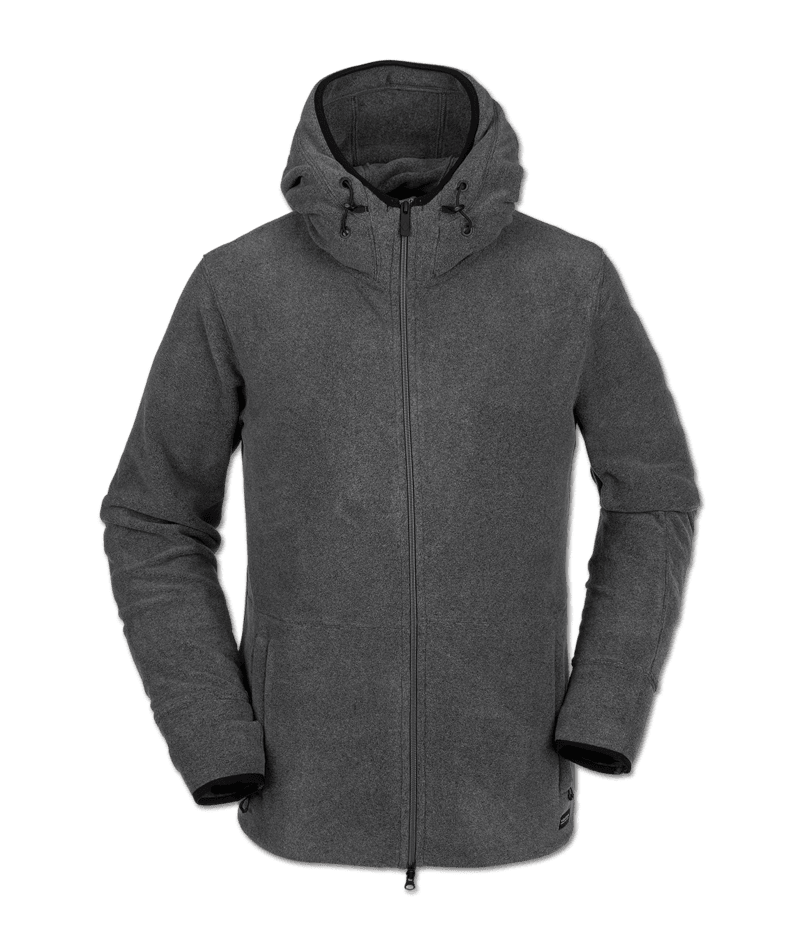 Volcom Polartec Fleece - heather grey Größe: M Farbe: heathergre