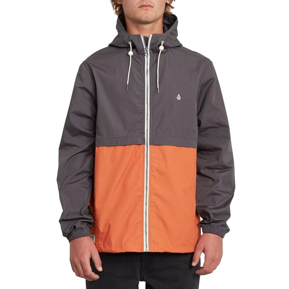 Volcom Howard Hooded - burnt orange Größe: S Orange: burntorang