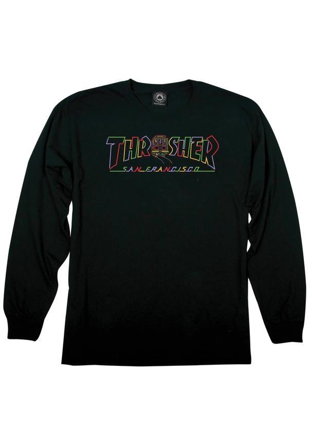 Thrasher Cable Car - black Größe: S Schwarz: black