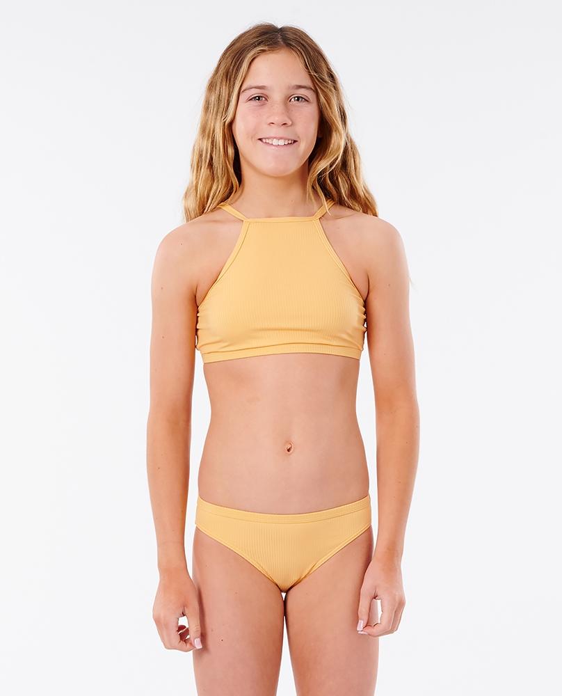 Rip Curl Girl Luxe Rib Bikini - orange Größe: 116_S Orange: orange